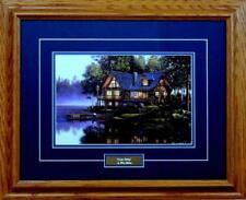 """Cabin Fever Lake Art Print by Kim Norlien Framed  21"""" x 17"""""""
