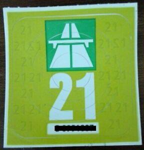Vignette Schweiz 2021 Autobahn