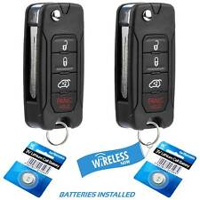 2 Car Key Fob Keyless Entry Remote Red For 2006 2007 Dodge Charger