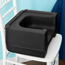 (ONE) BLACK HEAVY DUTY RESTAURANT CHILD BOOSTER SEAT DUAL HEIGHT/USA MADE