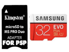 Samsung 32GB Micro SD Memory Stick+PRO Duo Adapter For PSP E1000 2000 3000 3003
