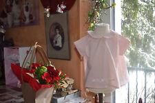 blouse neuve tartine et chocolat 6 mois avec broderies legere rose tendre
