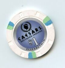 1.00 Casino Chip from the Caesars Casino Elizabeth Indiana