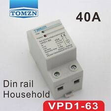 40A 230V Din rail automatic recovery  over and under voltage protector relays