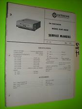 Hitachi kmt-880 e service manual original repair book fm converter car radio