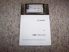 2010 Lexus ISF IS250 IS350 Navigation System Owner User Manual Guide Book