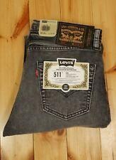 Levis 511 Slim Fit Skateboarding Jeans W 33 L 34 Acid Wash