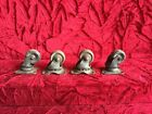 """Set of 4 All Metal 1"""" Casters Furniture Swivel - Restore Or Build Project"""