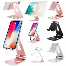 Universal Foldable Aluminum Desk Stand Adjustable Holder For iPhone iPad Tablet