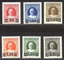 VATICAN CITY #35-40 Mint LH - 1934 Provisonal Set