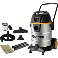 BOSTITCH 8311041 38-Litre 6 HP 2-Stage 10-Gallon Stainless Steel Wet/Dry Vacuum
