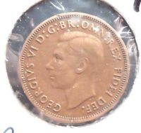 CIRCULATED, XF IN GRADE, 1949 1/2 PENNY UK COIN (22615)