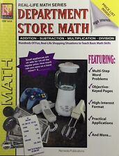 Remedia Publications Department Store Math Workbook Rem161A, GR 4 - 8, 2015 New