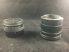 Vivitar 2x Teleconverter (used) And New Extension Tube Set For Pentax Cameras