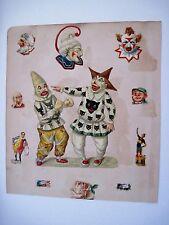 "Vintage ""Clown"" Die Cuts for Scrap Booking w/ Cats, Donkeys & Birds *"