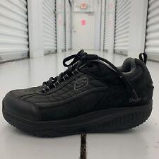 Skechers SHAPE UPS SN 52000 Mens US Taglia 10.5 Nero Camoscio Scarpe da ginnastica da passeggio