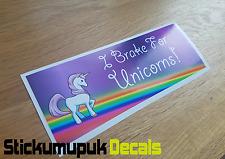 I Brake For Unicorns Funny Car Sticker,Van Dub JDM Sticker For Car Windows/Panel