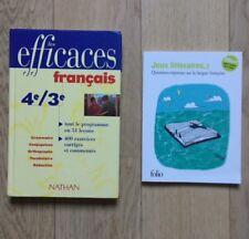 Livre Manuel Scolaire Français Les Efficaces Bled 4ème/3ème + livre jeux offert