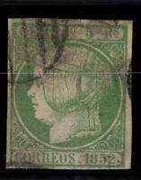 P133207/ SPAIN – ISABELLA II - EDIFIL # 15 USED SIGNED STOLOW – CV 200 $