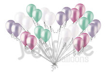 24 pc Pearl Lilac White Seafoam Pink Latex Balloons Party Decoration Baby Girl