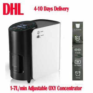 1-7L/min Adjustable Portable O2 Concentrator Air 02 Machine for Home /Travel Use