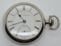 Antique 1879 ELGIN B.W. Raymond 15J Silver Railroad Grade 70 RR Pocket Watch 18s