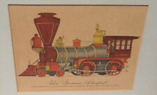 """EVELYN CURRO """"THE GOVERNOR STANFORD"""" OLD HAND COLORED PRINT"""