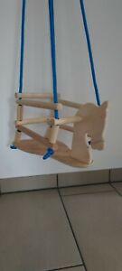 Wie Neu Holz Babyschaukel Indoor o. für draußen Babywippe Schaukel Pferd