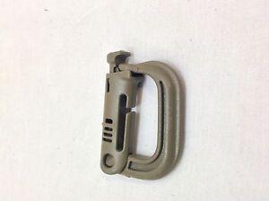 6- Grimloc, D-Ring Carabiner Coyote Brown MOLLE II, ITW Nexus