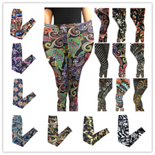 NEW BOHO Floral Funky Patterns Plus Ankle/Cropped Leggings Women Pants 2017 HOT