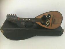 More details for antique napoli bowlback mandolin instrument italian mother pearl + case vgc t21