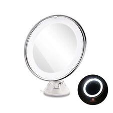 Specchio LED Ingrandente 10X Trucco con Ventosa per Ogni Superficie Removibile