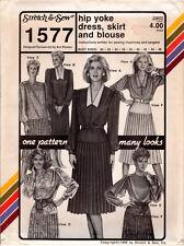 """UNCUT Stretch & Sew Master Sewing Pattern 1577 """"Hip Yoke Dress, Skirt & Blouse"""""""