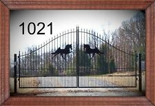Custom Built Wrought Iron Style Driveway Gate #1021, 14 Ft Wide Ds Residential