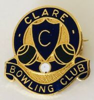 Clare Bowling Club Badge Pin Rare Vintage (M4)