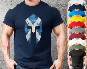 Scotland Spartan Gym T-Shirt Mens Gym Clothing Workout Training Bodybuilding Top