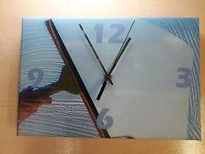 "Kitchen Hall lounge quartz wall clock window cleaner wall clock 12"" x 8"" canvas"