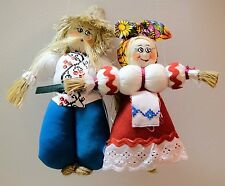 Ukrainian Ethnic Folk Costume Handcrafted Dolls - Couple ''Nerazluchniki'