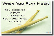 When you play music - Music Drum Sticks NEW POSTER