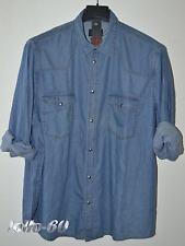 CAMICIA Jeans UOMO Taglie forti  TAGLIA 3XL calibrata OVERSIZE tela denim cotone