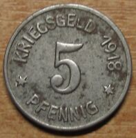 Germany Notgeld (Token) Siegen 5 pfennig 1918