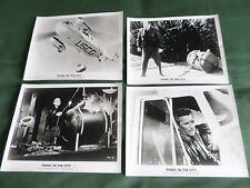 PANIC IN THE CITY -  UK B& W LOBBY CARDS 8X10  - HOWARD DUFF - STEPHEN MCNALLY