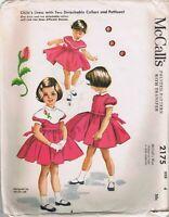 1957 McCalls Pattern 2175 Helen Lee Dress 4 Detachable Collar Petticoat Cut