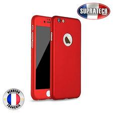 Coque de Protection Rouge Avant et Arrière avec Verre pour Apple iPhone 7