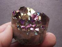 Rainbow Amethyst Druzy Cluster 4.6 Oz Titanium Aura Quartz Crystal Disc 24033
