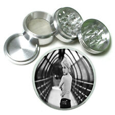 "Bad Girl Pin Up D10 Aluminum Herb Grinder 2.5"" 63mm 4 Piece"
