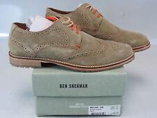 BEN SHERMAN Mens BENNETT Sand/Beige Suede Brogue Wingtip US 7, EU 40 BN211001-25