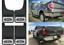 "12x23"" Front & Rear Gatorback Mud Flaps For Ford Trucks Logo New Free Shipping"