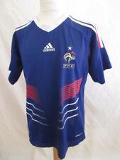 Maillot de football vintage équipe de France Adidas Bleu Taille 10 ans
