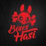 Böses Hasi Böser Hase Totenkopf Cartoon Rot Auto Vinyl Decal Sticker Aufkleber